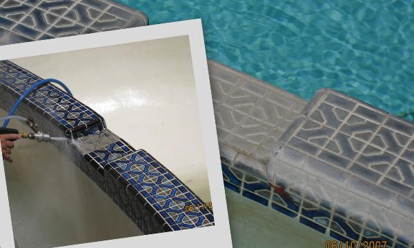 Pool Tile Cleaning Process
